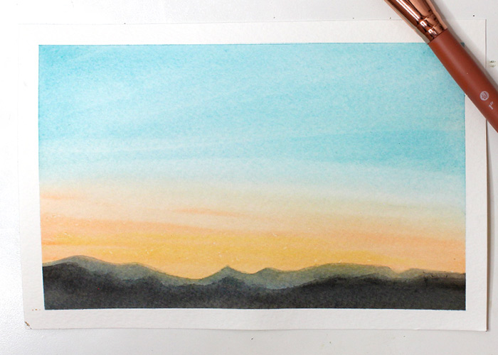 Easy Watercolour Sky Tutorial for Beginners