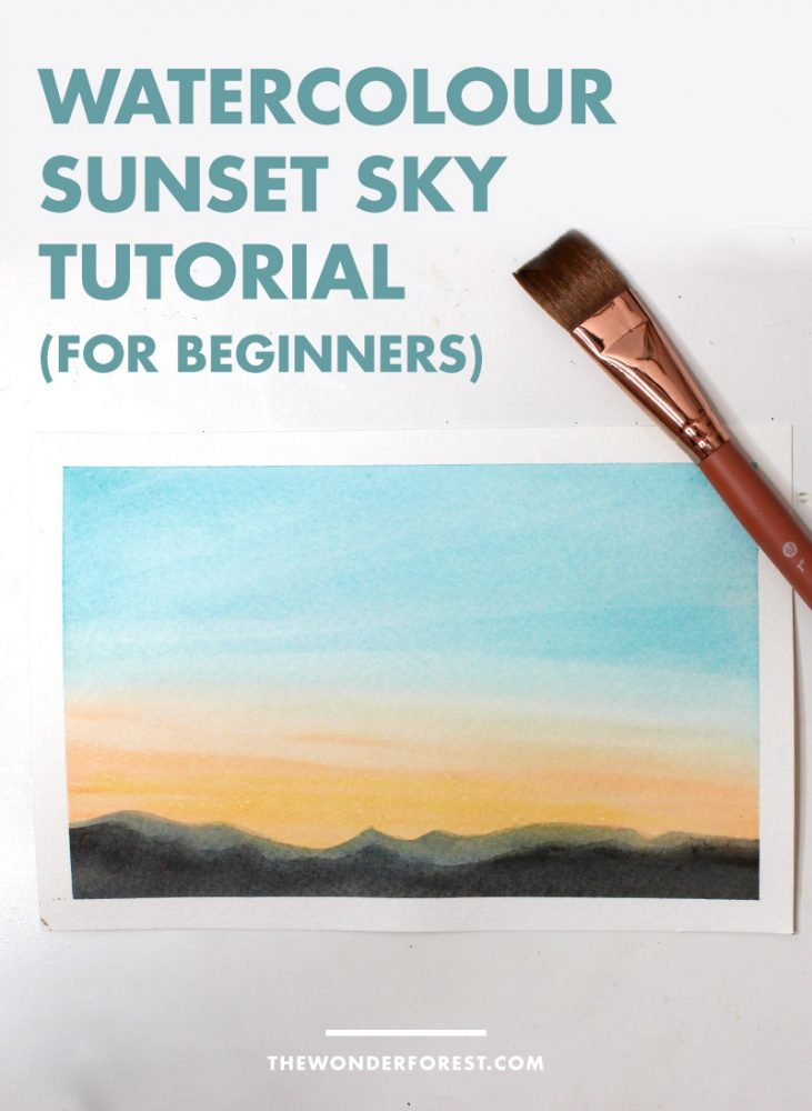 Watercolour Sunset Tutorial