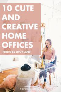 10 Creative and Cute Home Office Ideas