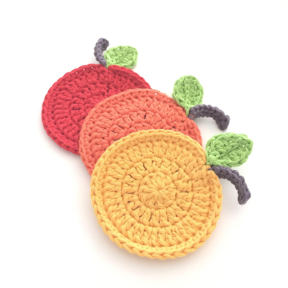 10 Free Summer Crochet Patterns - Fruit Coasters