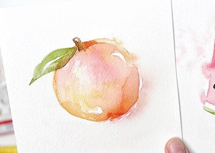 Loose Peach Watercolour Tutorial
