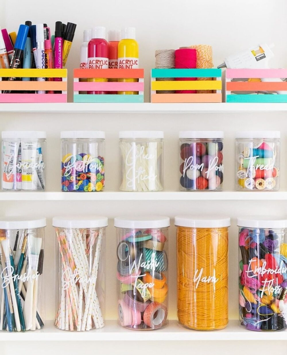 craft supply organization ideas