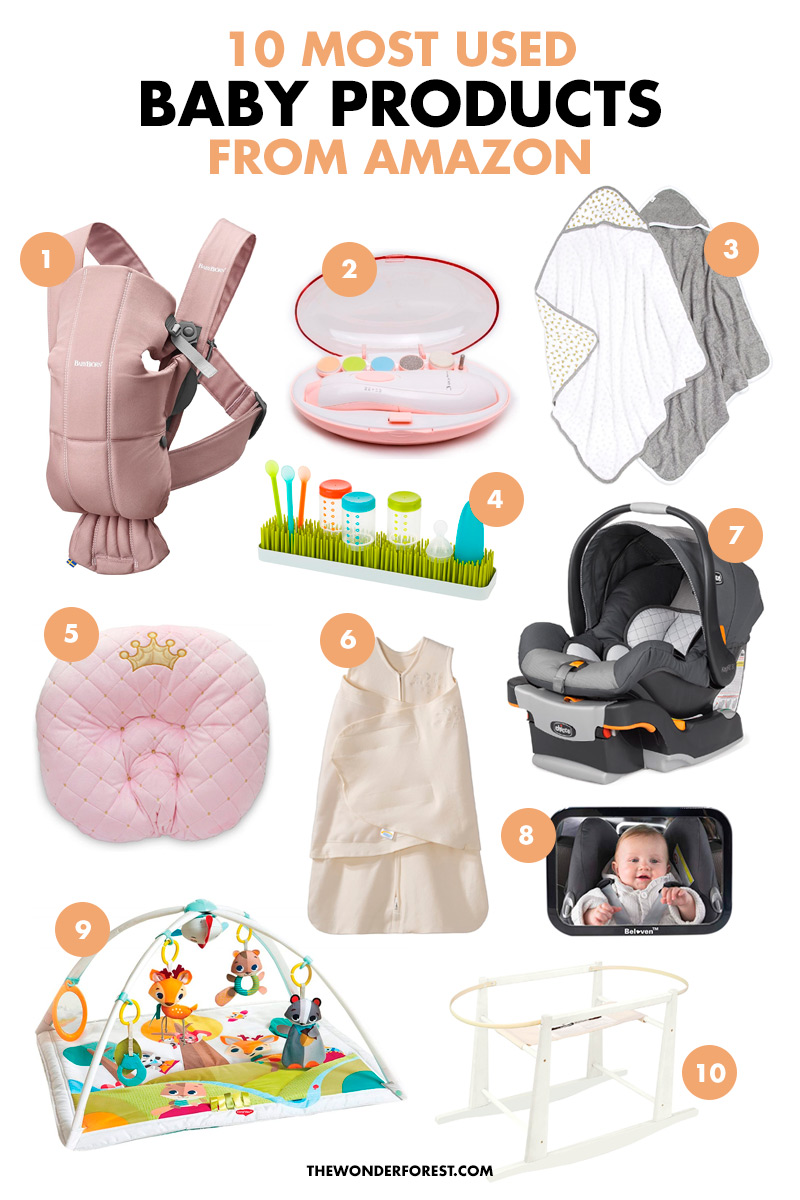 Most Used Amazon Baby Products