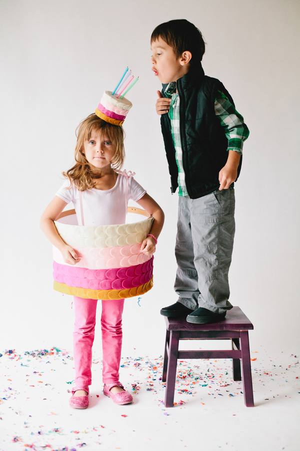 DIY Kids Birthday Cake Costume