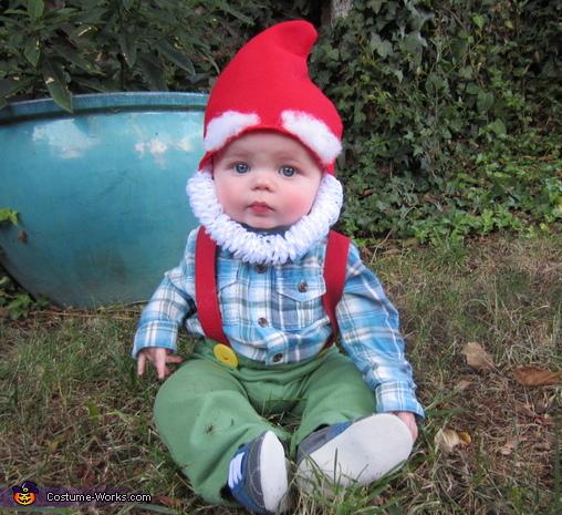 Garden Gnome DIY Baby Costume