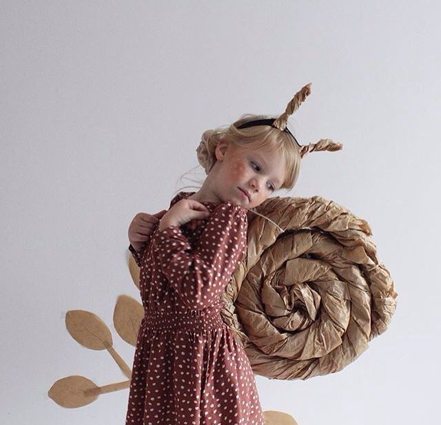 DIY Snail Kids Halloween Costume
