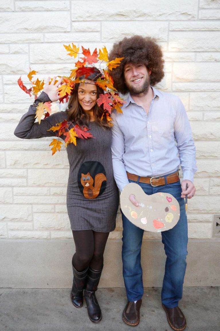 Bob Ross and Tree Couples Costume