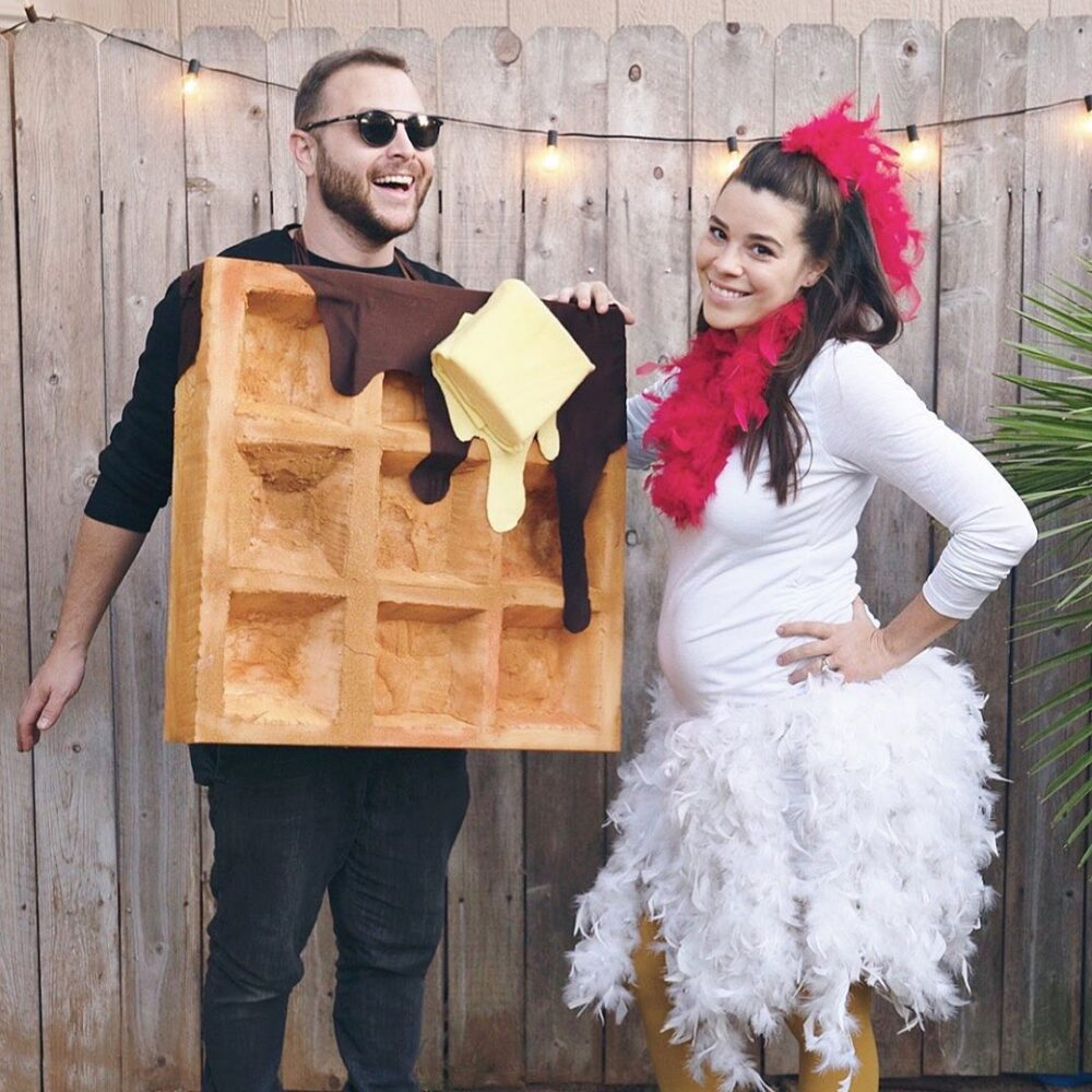 Chicken and Waffles Couples Costume