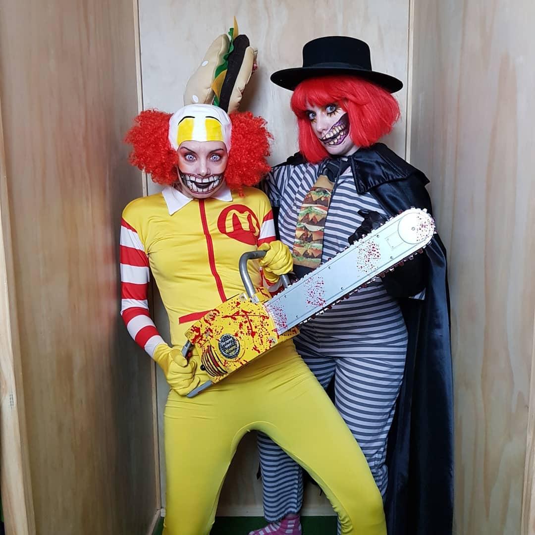 Ronald McDonald and Hamburglar Halloween Costumes