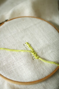 Beginner Punch Needle Tutorial: Leaf Pillow DIY
