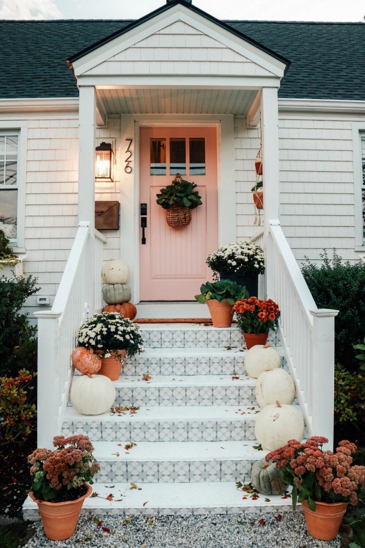 Tiled Steps Fall Porch