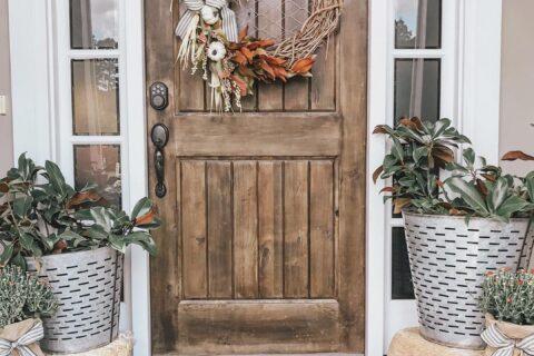 Rustic Neutral Fall Door Decor