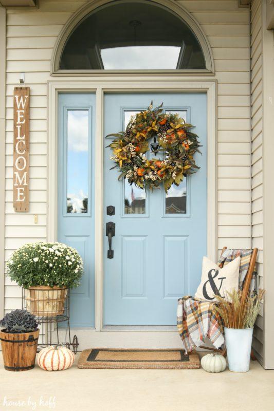 Pastel Autumn Door Decor