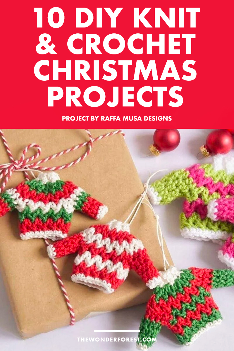 10 Adorable Knit and Crochet DIY Christmas Decorations