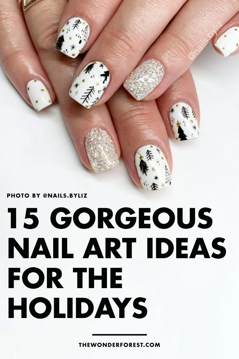 15 Gorgeous Festive Nail Art Ideas