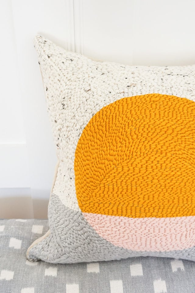 DIY Punch Needle Sun Pillow