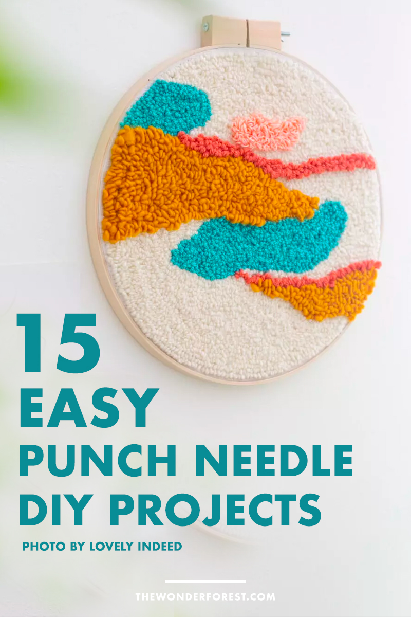15 Easy DIY Punch Needle Home Decor Projects