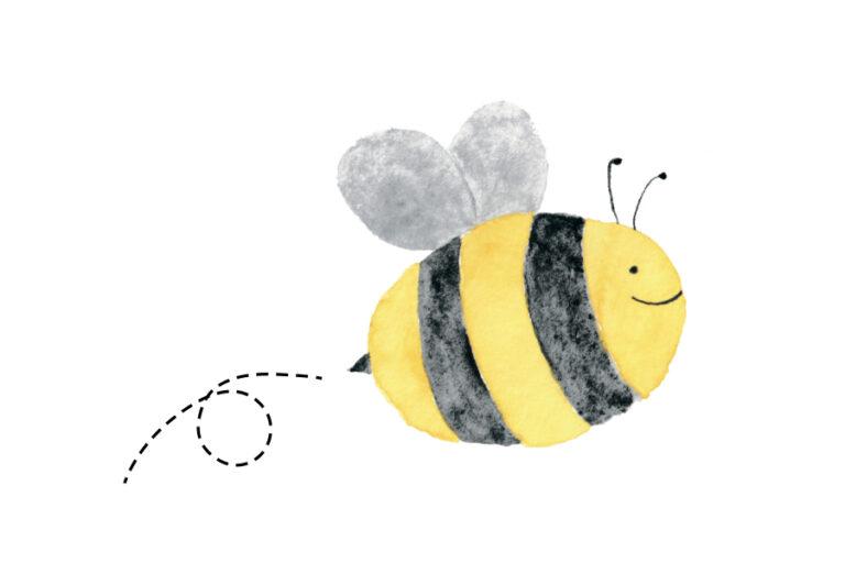Valentine's Day Printable Card: Bee My Valentine