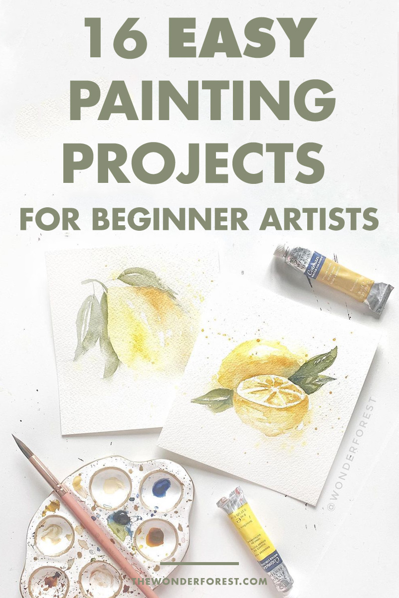 16 Easy Painting Projects For Beginner Artists