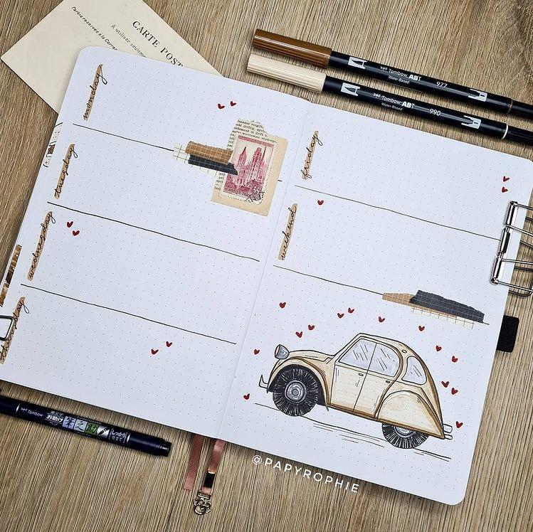 15 Creative Bullet Journal Weekly Spread Ideas