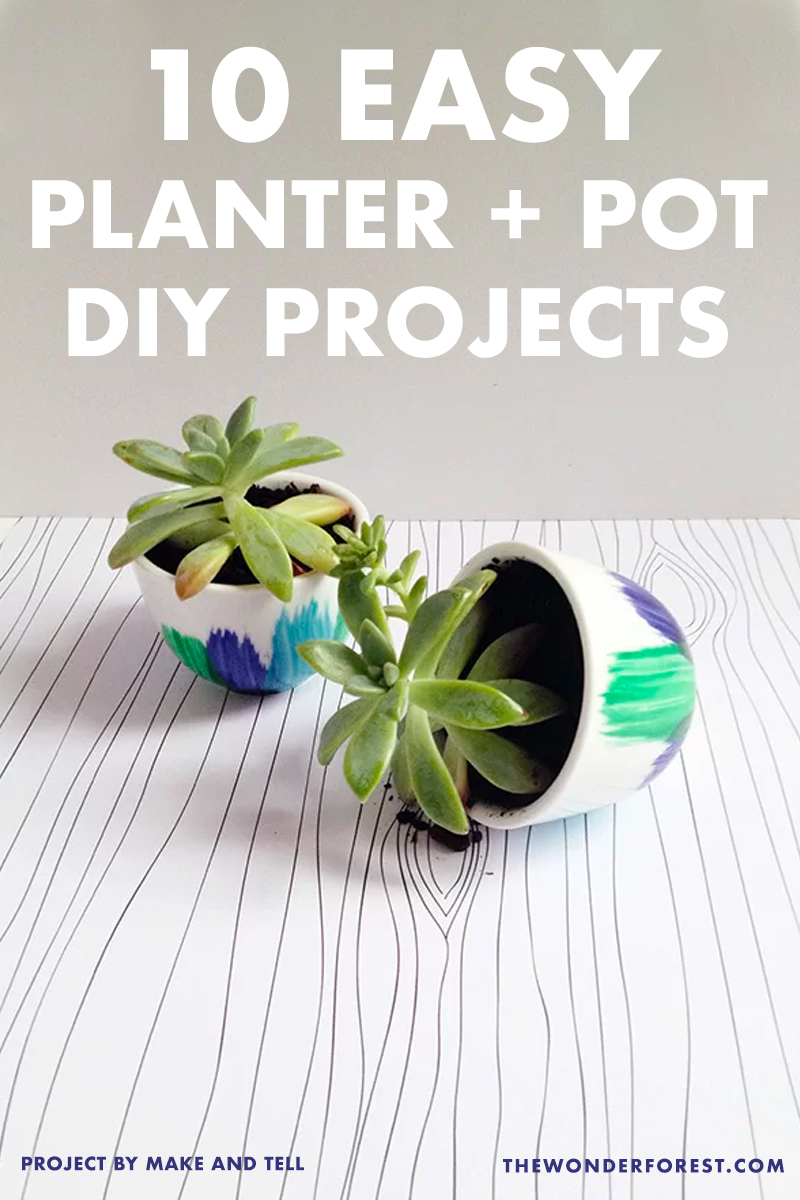 10 DIY Planters and Flower Pots You Can Make at Home