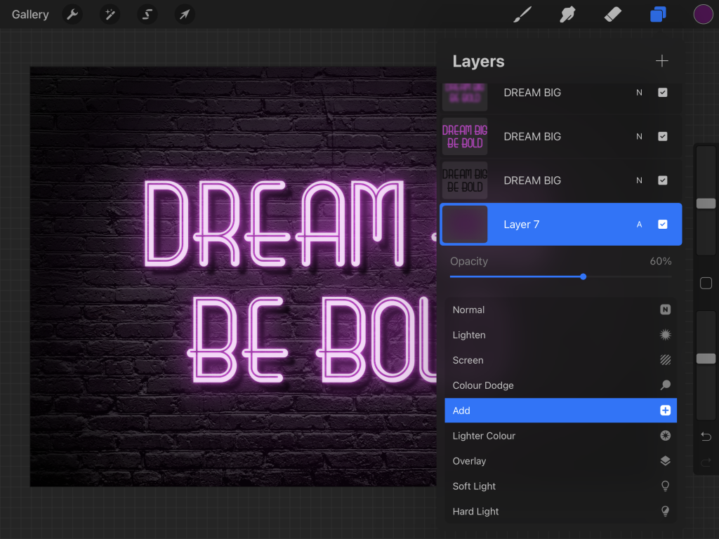 How to Create a Neon Sign in Procreate
