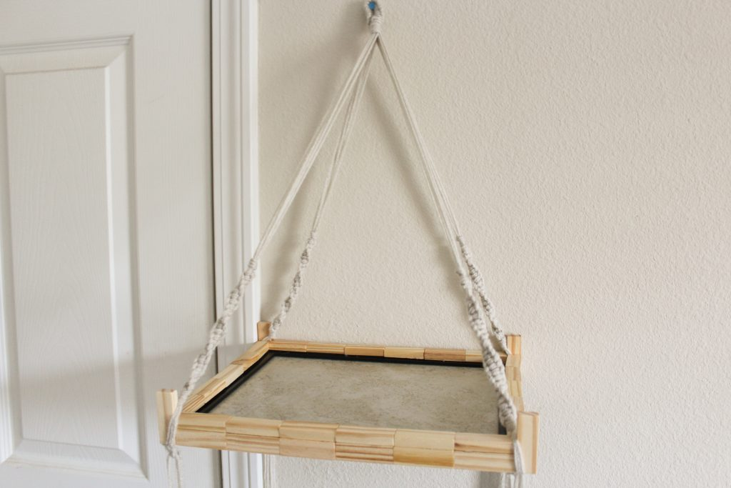 Summer Dollar Store DIY: Macrame Hanging Shelf