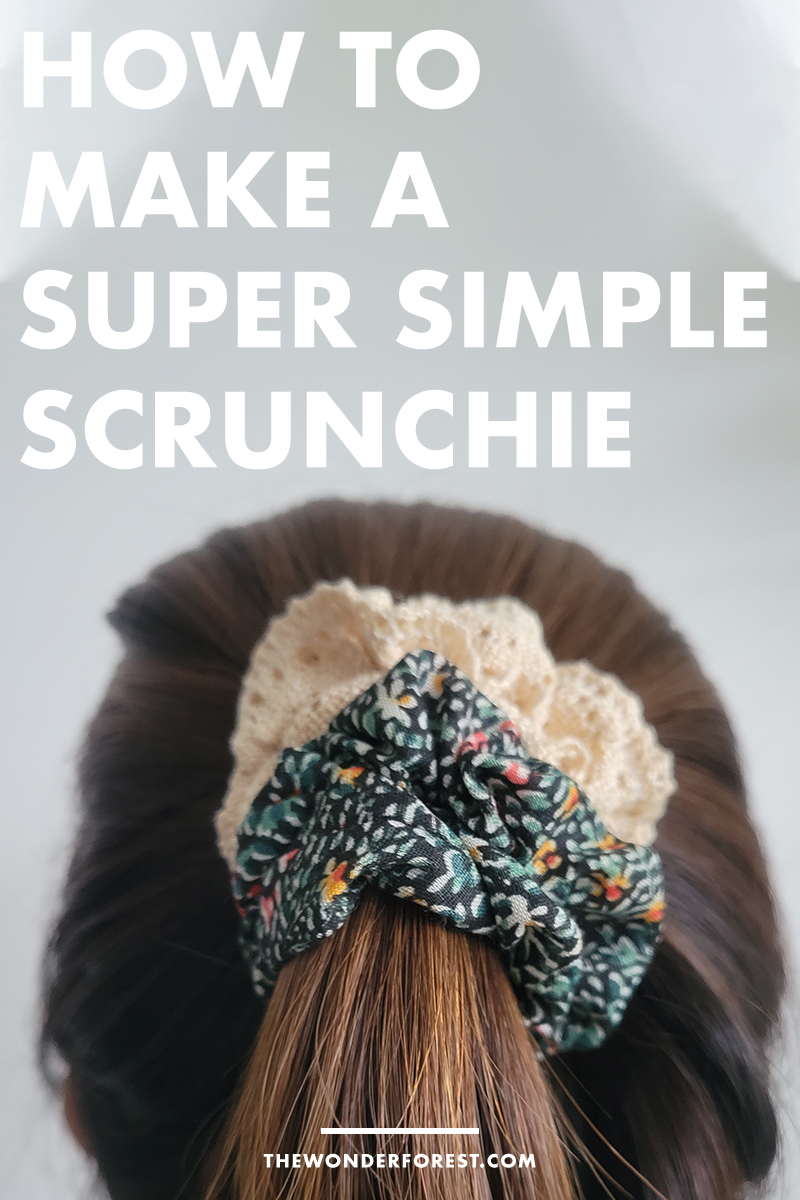 Sewing DIY: How to Make a Super Simple Hair Scrunchie