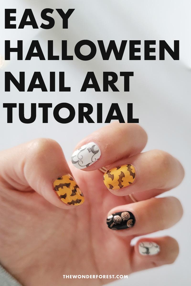 Easy Halloween Nail Art Using Stencils